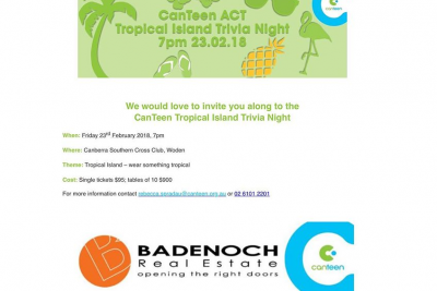 CanTeen's Tropical Island Trivia Night