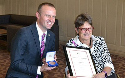 Sue Salthouse named as the 2015 Canberra Citizen of the Year